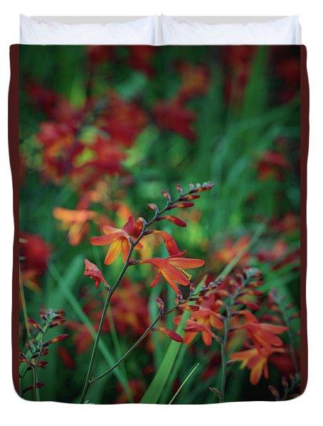 Orange Flowers 8 Duvet Cover