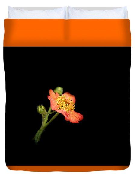 Orange Flowers In The Summer Duvet Cover