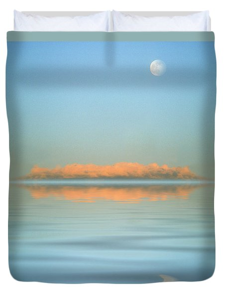 Orange Fog Duvet Cover by Jerry McElroy