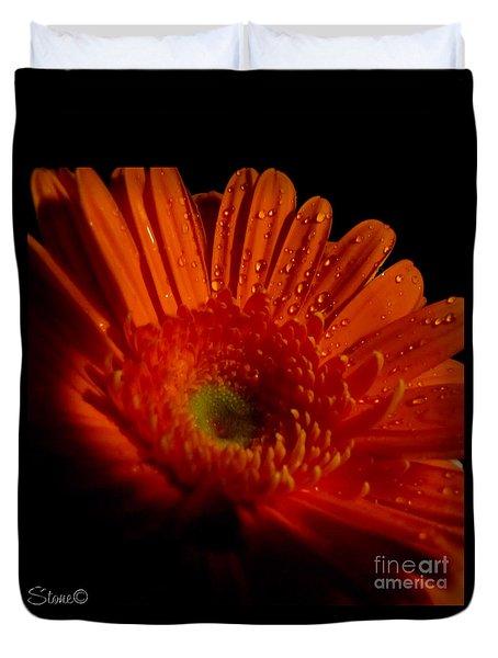 Orange Gerbera Duvet Cover