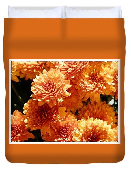 Orange Glory Duvet Cover
