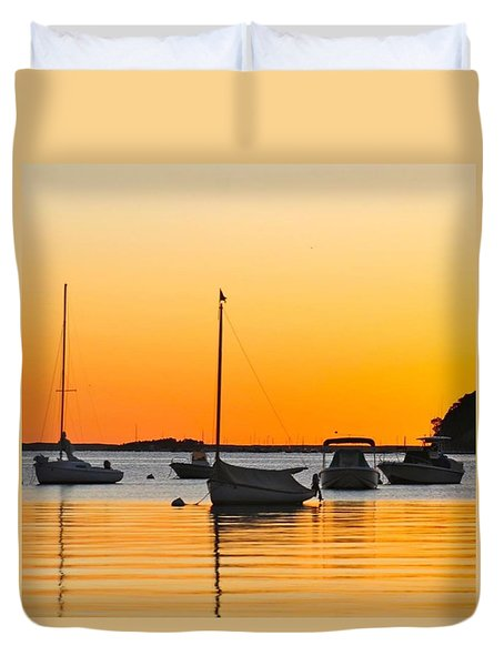 Orange Glow Duvet Cover by Justin Connor