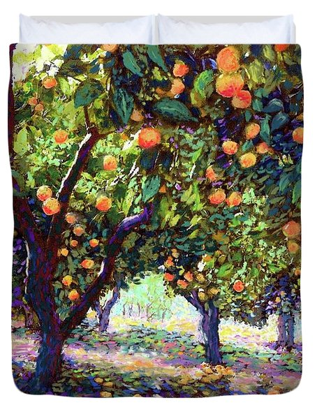 Orange Grove Of Citrus Fruit Trees Duvet Cover
