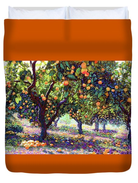 Orange Grove Of Citrus Fruit Trees Duvet Cover
