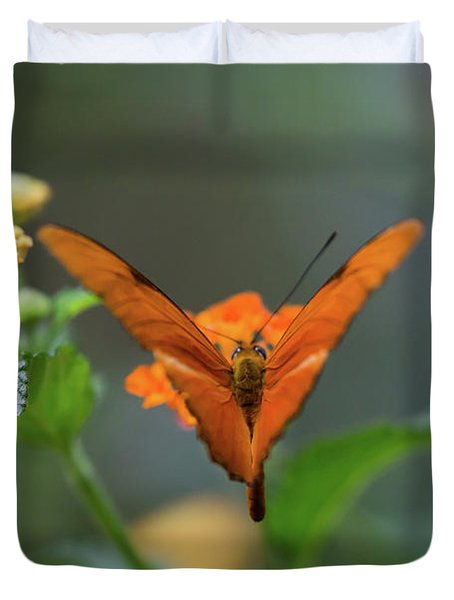 Orange Is The New Butterfly Duvet Cover