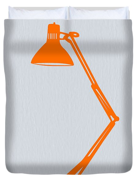 Orange Lamp Duvet Cover