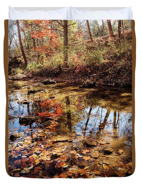 Orange Leaves Duvet Cover
