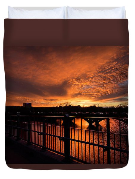 Orange Light Duvet Cover