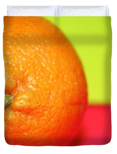Orange Duvet Cover by Linda Sannuti