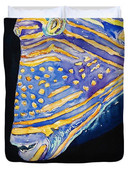 Orange-lined Trigger Duvet Cover by Tanya L Haynes - Printscapes