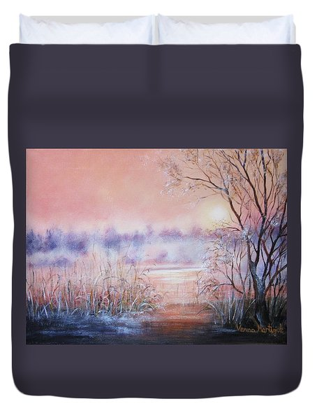 Orange Mist Duvet Cover