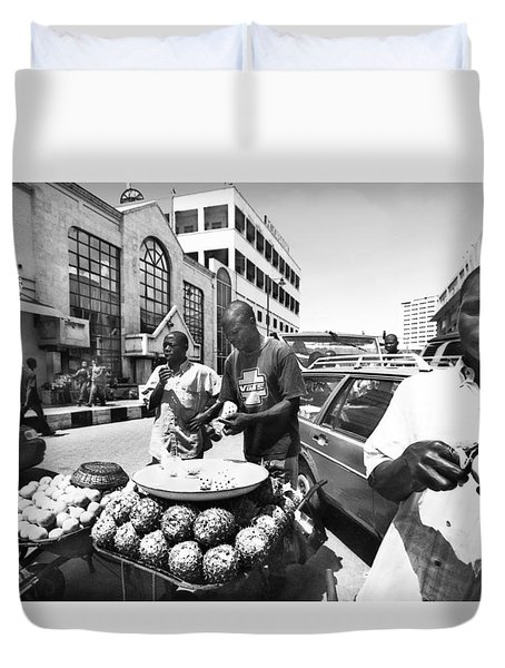 Fruit Vendors At  Apongbon Duvet Cover