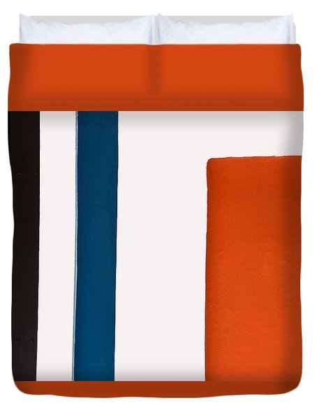 Orange On The Right Duvet Cover
