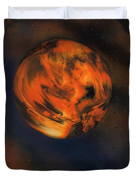 Orange One Duvet Cover