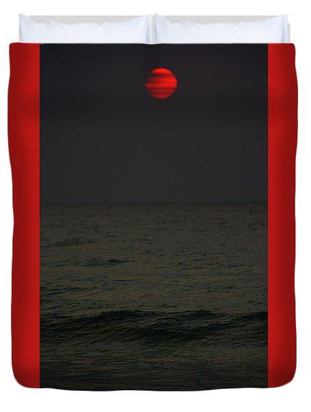 Orange Onyx Sunrise Duvet Cover