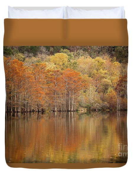 Orange Pool Duvet Cover by Iris Greenwell