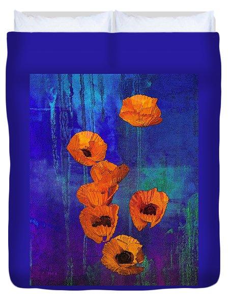 Orange Poppies Duvet Cover by I'ina Van Lawick