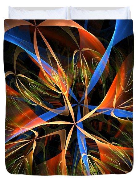 Orange Ribbons Duvet Cover