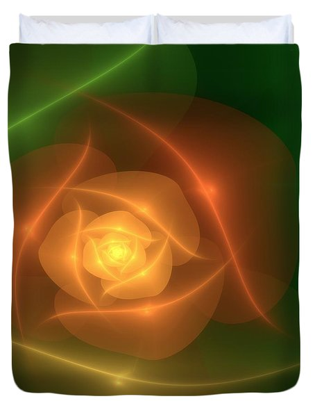 Orange Rose Duvet Cover by Svetlana Nikolova