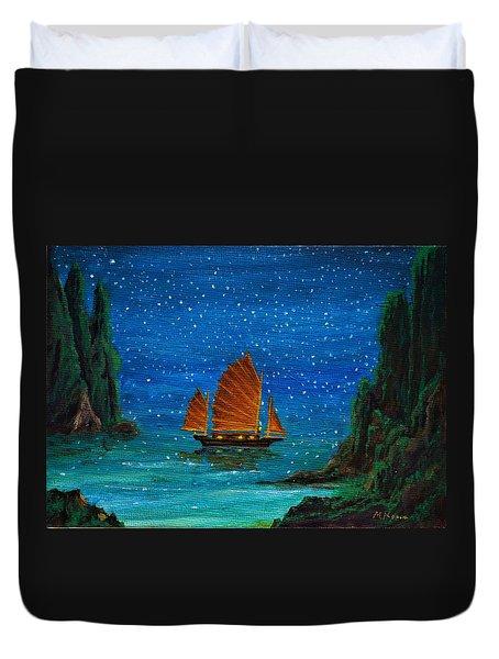 Orange Sail Duvet Cover