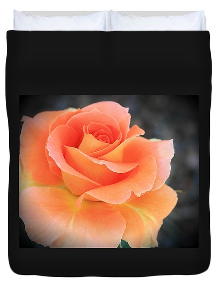 Duvet Cover featuring the photograph Orange Sherbert by Marna Edwards Flavell