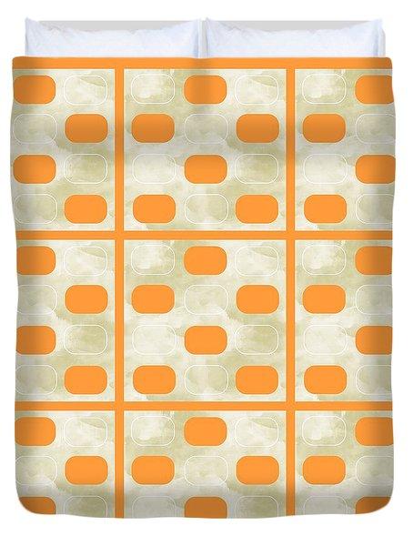 Orange Sherbet Shapes Duvet Cover