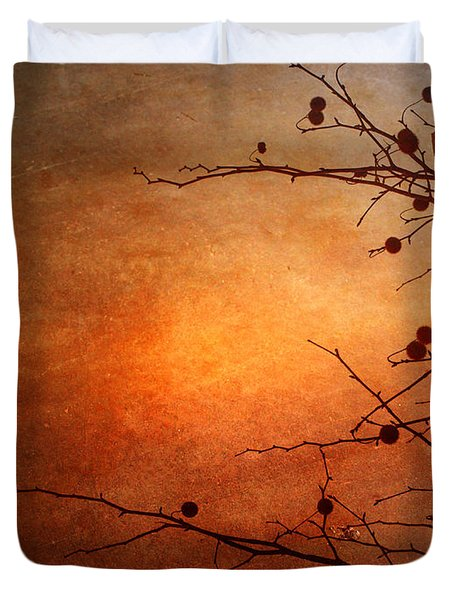 Orange Simplicity Duvet Cover by Tara Turner