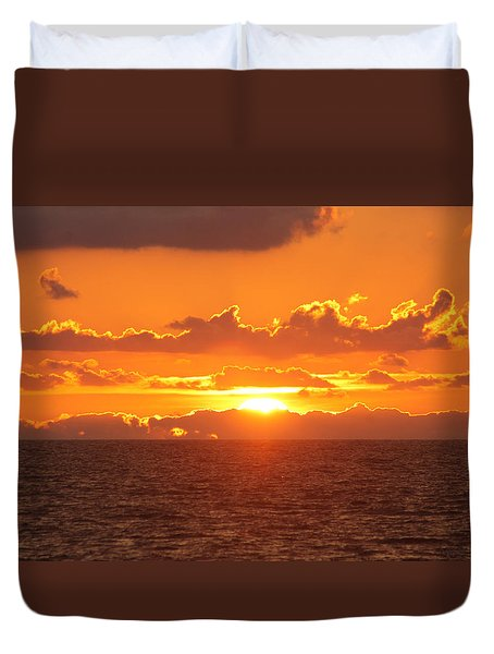 Orange Skies At Dawn Duvet Cover