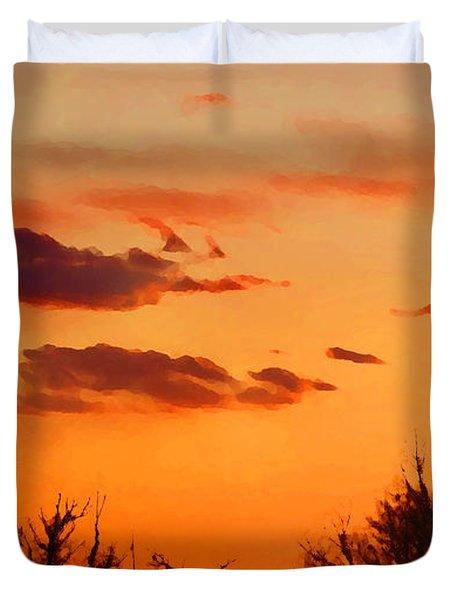Orange Sky At Night Duvet Cover