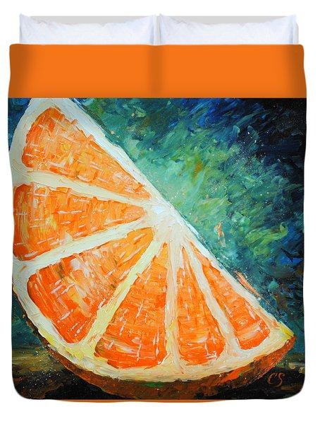 Orange Slice Duvet Cover
