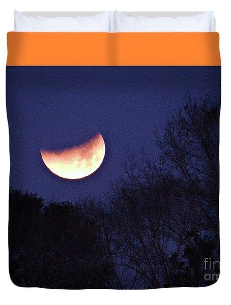 Orange Slice Moon 2018 Duvet Cover