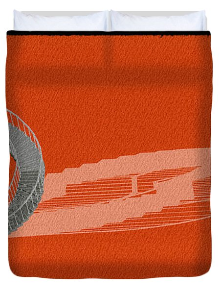Orange Stair 46 And It Negative Shadow Duvet Cover