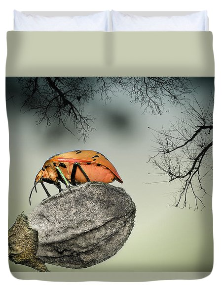 Orange Stink Bug 001 Duvet Cover