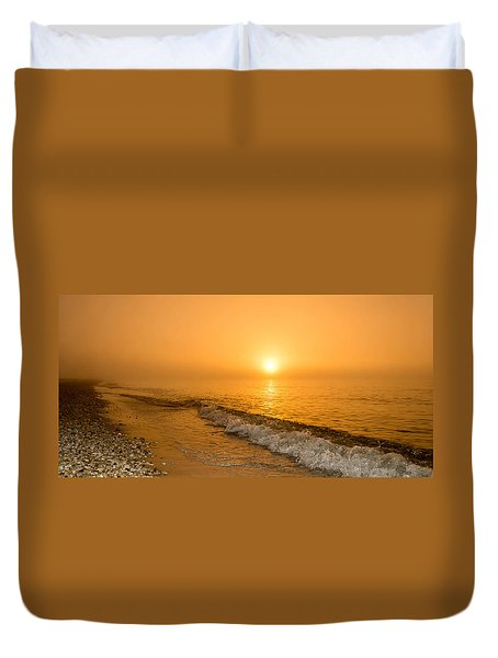 Orange Sunrise Duvet Cover