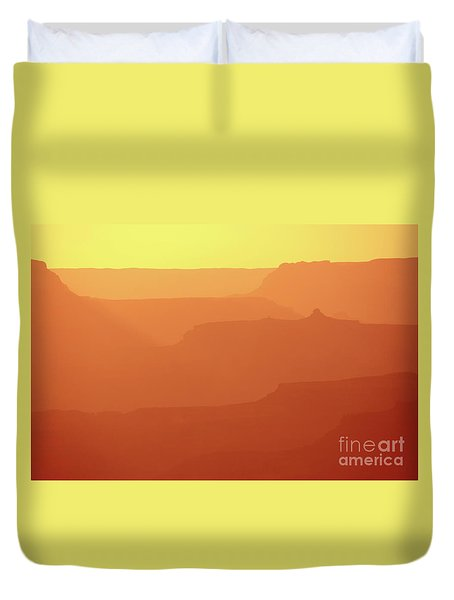 Orange Sunset At Grand Canyon Duvet Cover by RicardMN Photography