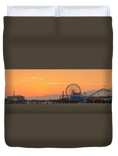 Orange Sunset - Panorama Duvet Cover