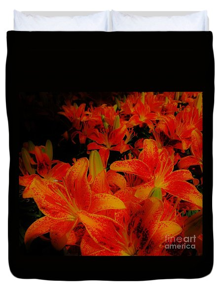 Spicey Tiger Lilies Duvet Cover