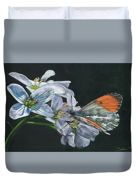 Orange Tip  Duvet Cover