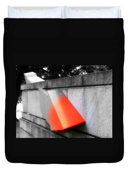 Duvet Cover featuring the photograph Orange Tipped Arrow by Richard Ricci