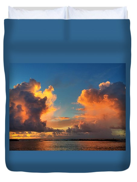 Orange To The Left And To The Right Duvet Cover