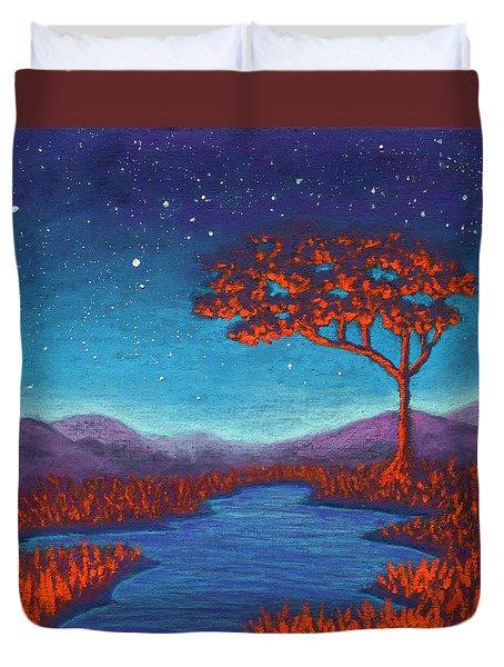 Orange Tree 01 Duvet Cover