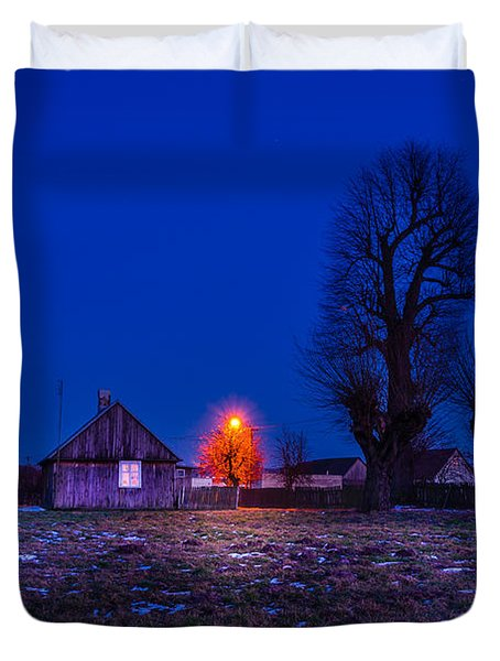 Duvet Cover featuring the photograph Orange Tree by Dmytro Korol