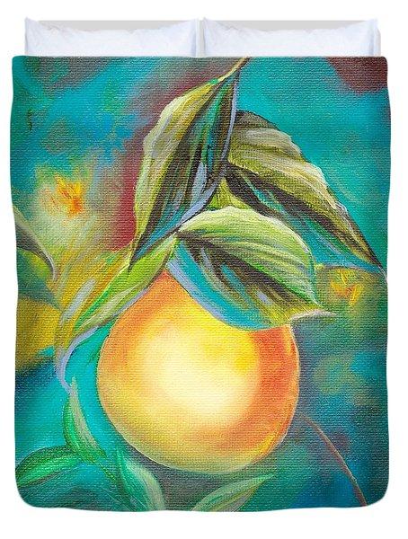Orange Tree Duvet Cover