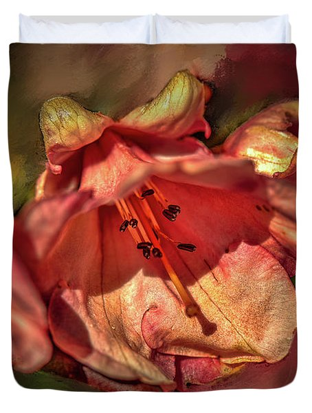 Duvet Cover featuring the photograph Orange Trio #h5 by Leif Sohlman