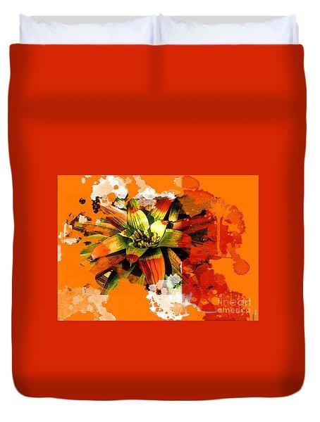 Orange Tropic Duvet Cover by Deborah Nakano