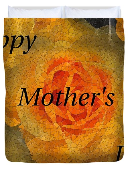 Orange You Lovely Mothers Day Duvet Cover by Tim Allen