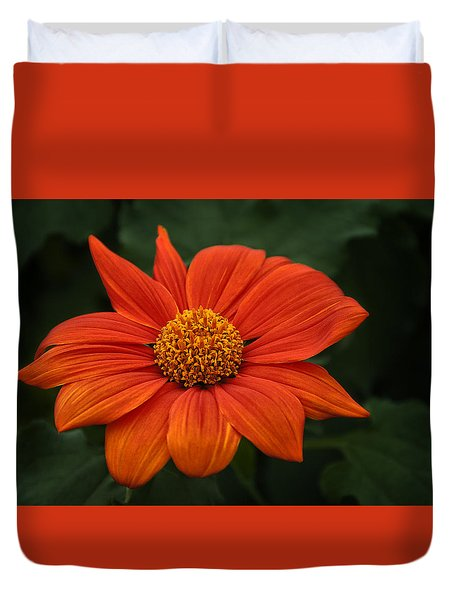 Orange You Pretty Duvet Cover