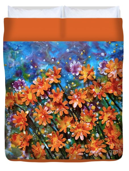Orange You Sweet Duvet Cover
