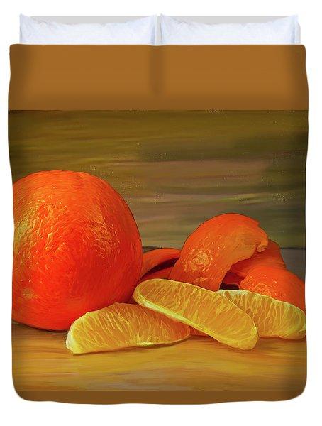 Oranges 01 Duvet Cover by Wally Hampton