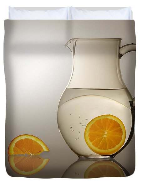 Oranges And Water Pitcher Duvet Cover